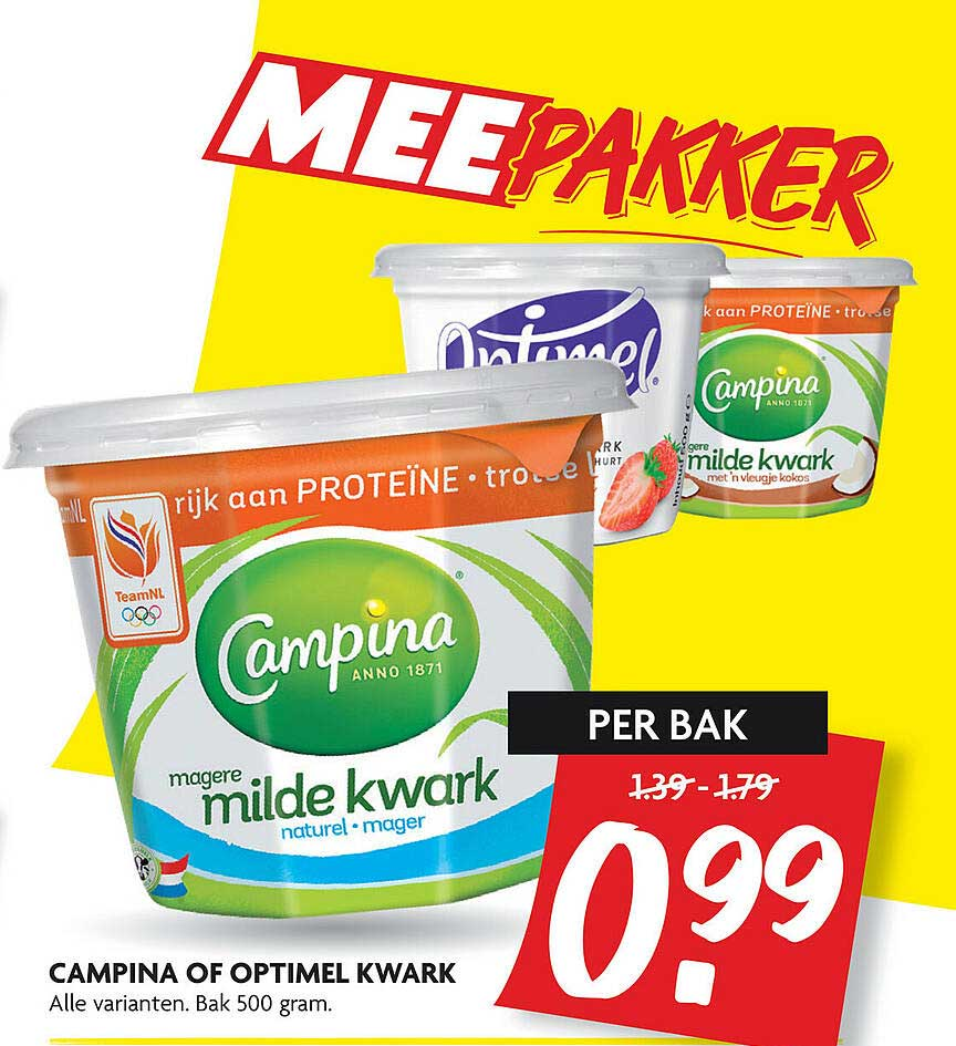 DekaMarkt Campina Of Optimel Kwark