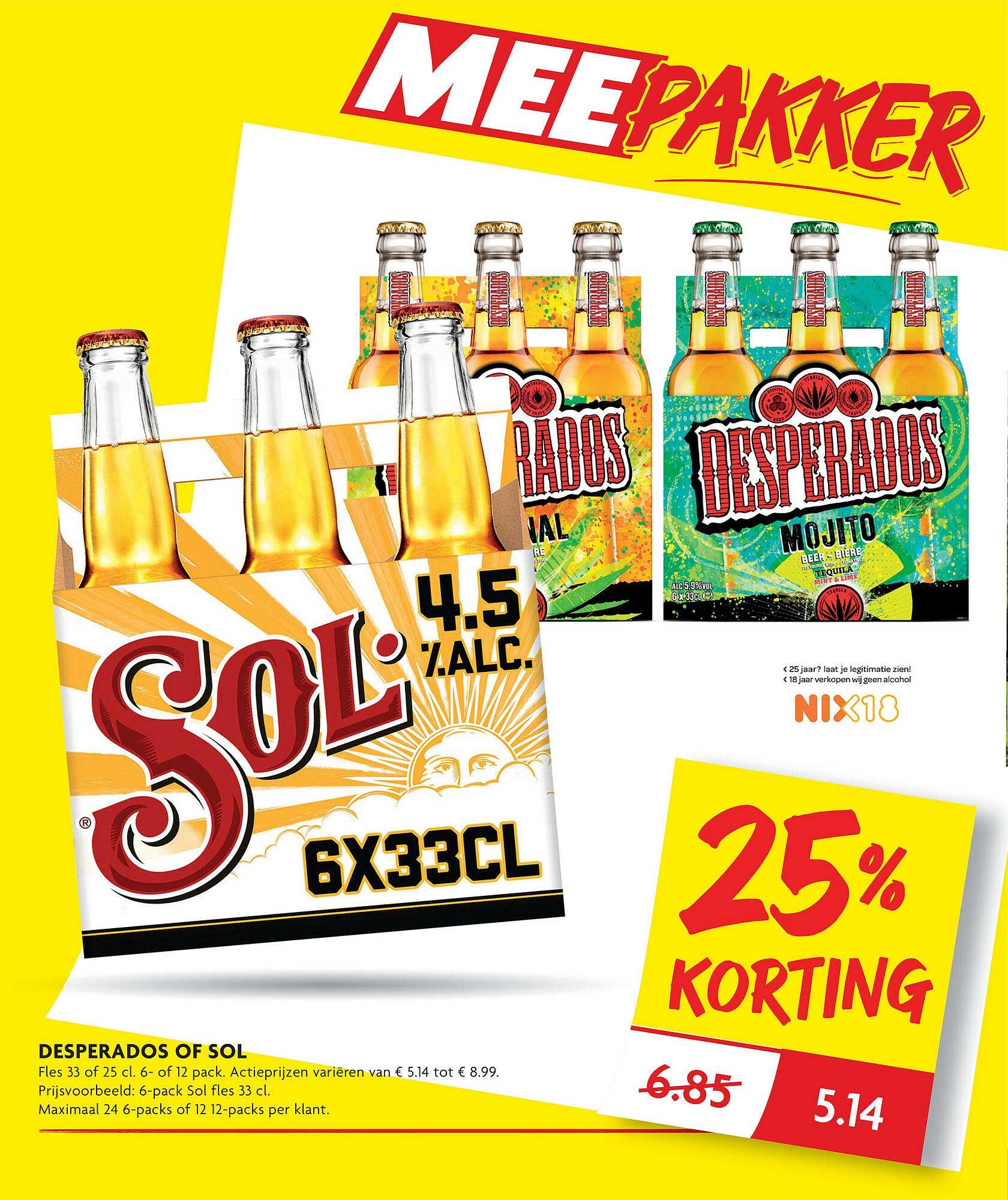 DekaMarkt Desperados Of Sol 25% Korting