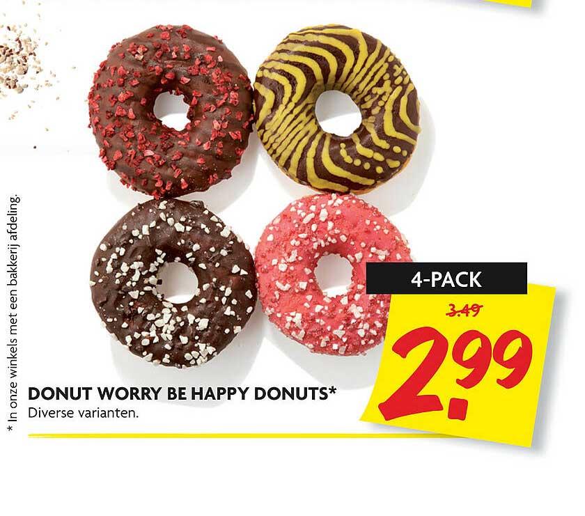 DekaMarkt Donut Worry Be Happy Donuts