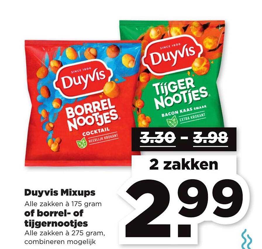PLUS Duyvis Mixups Of Borrel- Of Tijgernootjes