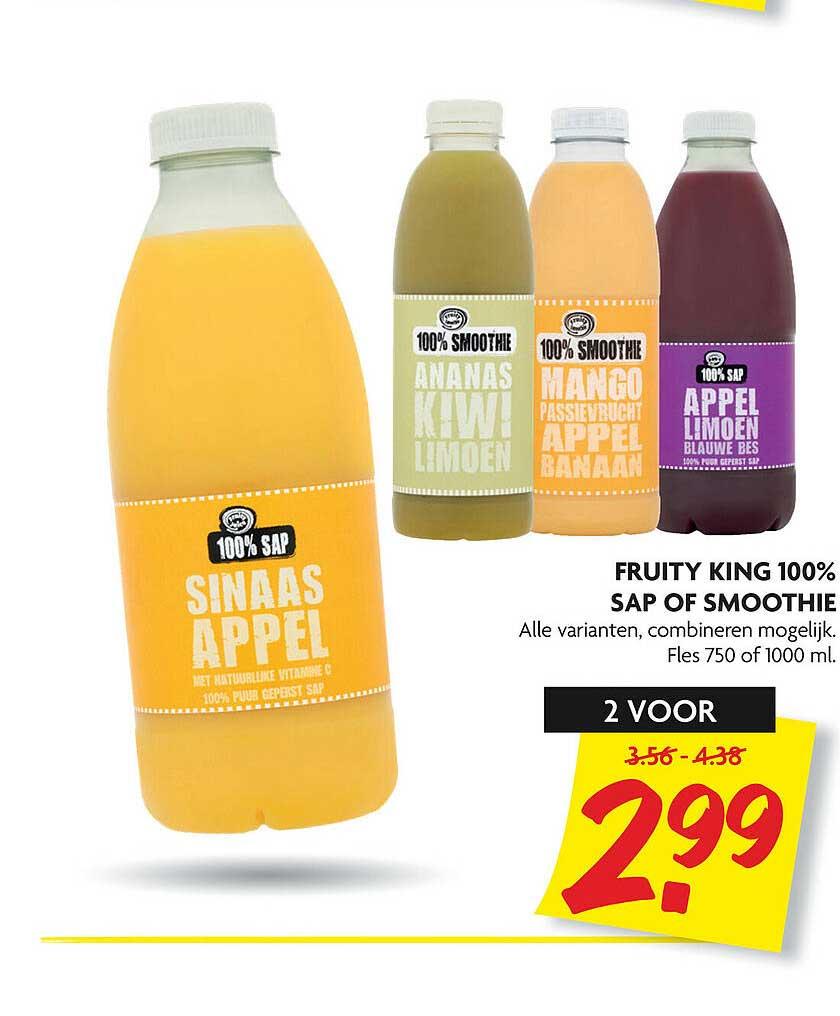 DekaMarkt Fruity King 100% Sap Of Smoothie
