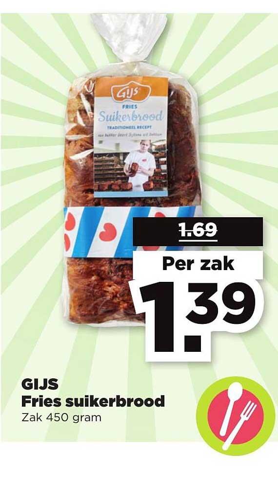 PLUS Gijs Fries Suikerbrood
