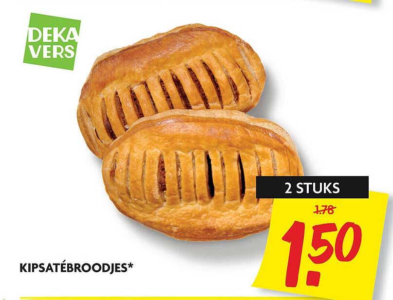 DekaMarkt Kipsatébroodjes