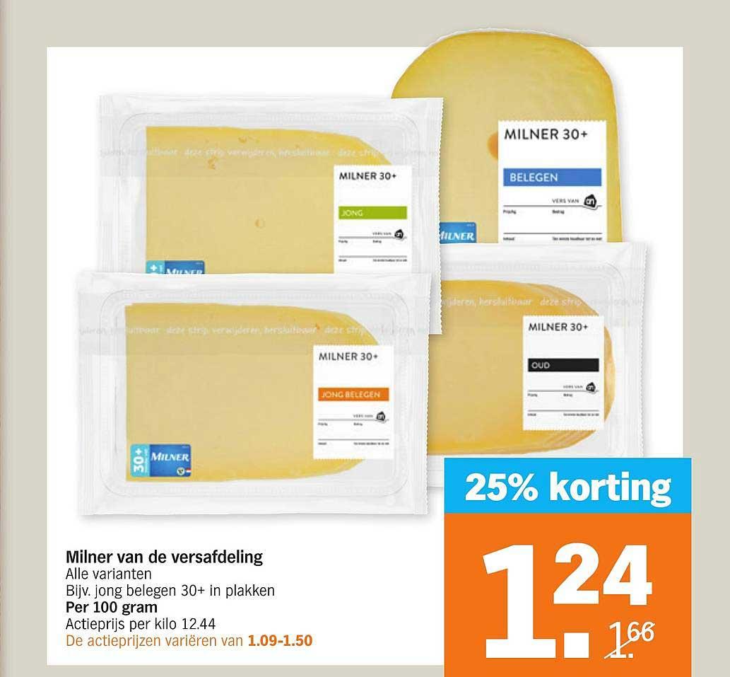 Albert Heijn Milner Van De Versafdeling 25% Korting