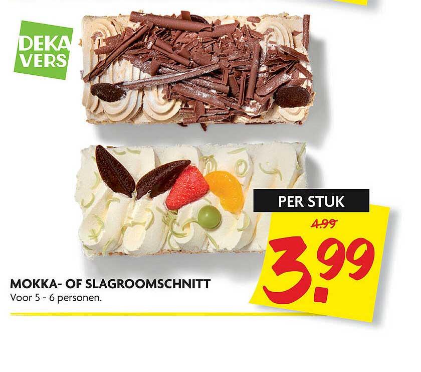 DekaMarkt Mokka- Of Slagroomschnitt