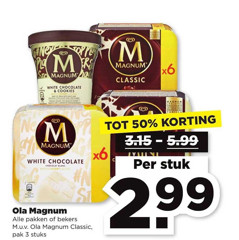 PLUS Ola Magnum Tot 50% Korting
