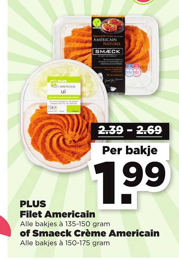 PLUS Plus Filet Americain Of Smaeck CrèMe Americain