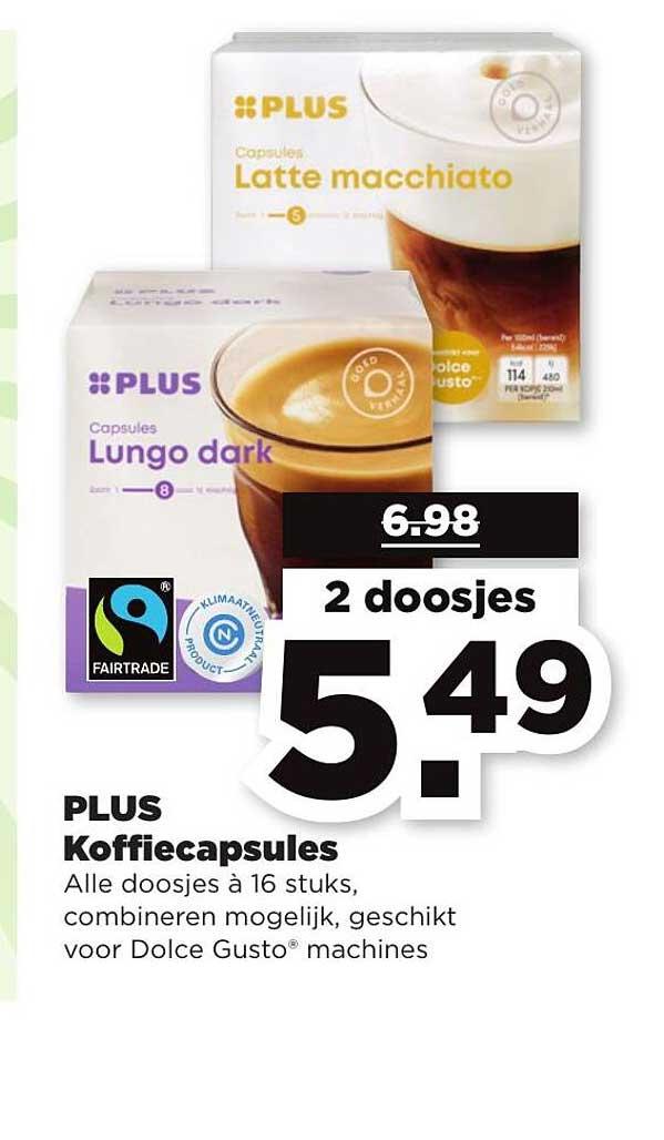 PLUS Plus Koffiecapsules