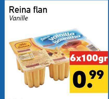Tanger Markt Reina Flan Vanille