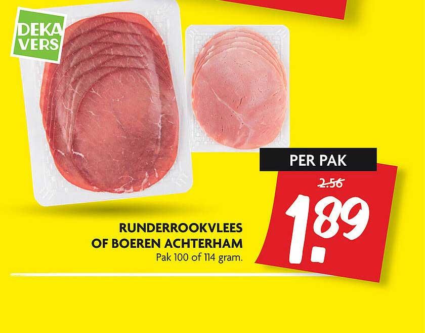 DekaMarkt Runderrookvlees Of Boeren Achterham
