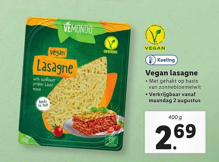 Lidl Vemondo Vegan Lasagne