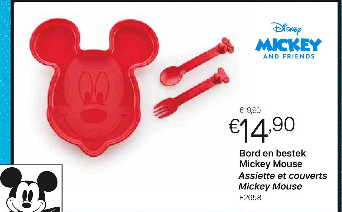Tupperware Bord En Bestek Mickey Mouse