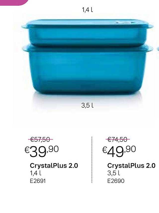 Tupperware CrystalPlus 2.0 1,4 L Of 3,5 L