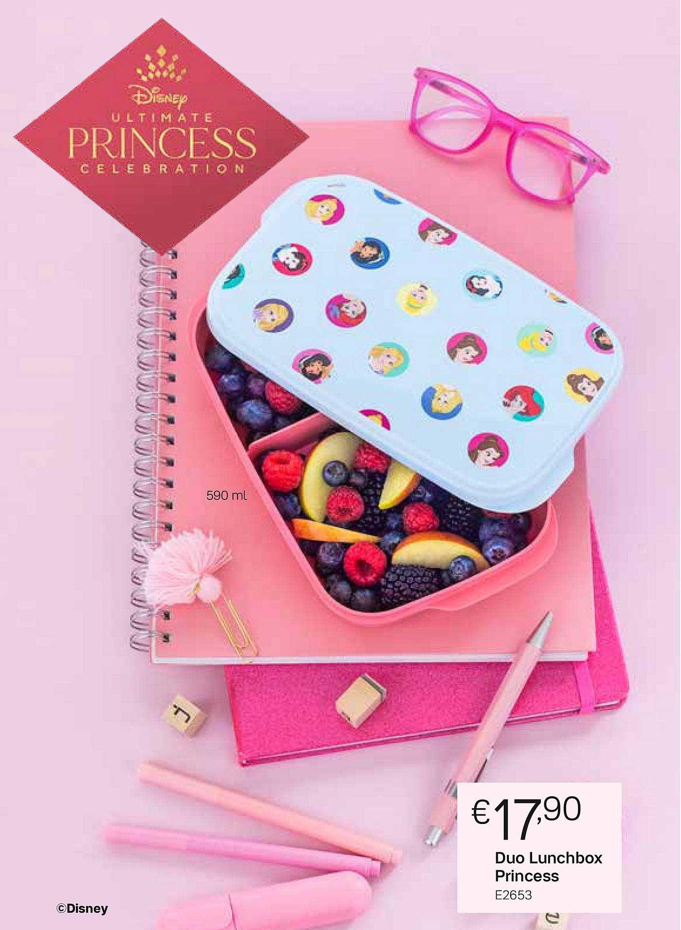 Tupperware Duo Lunchbox Princess