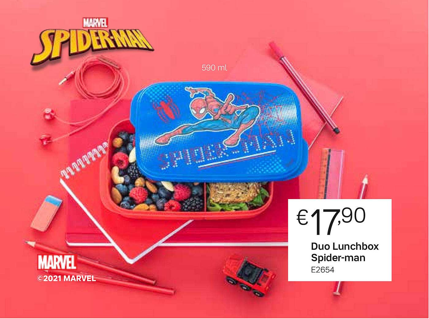 Tupperware Duo Lunchbox Spider-Man