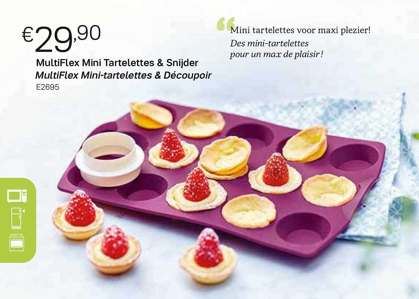 Tupperware Multiflex Mini Tartelettes & Snijder