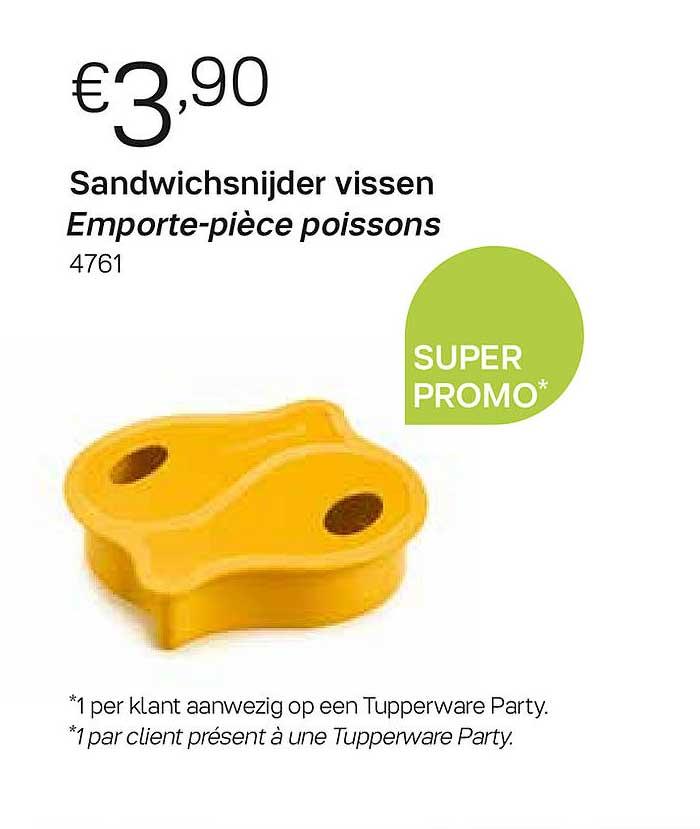Tupperware Sandwichsnijder Vissen