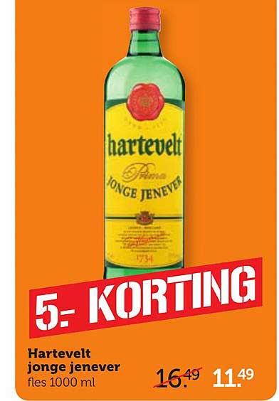 Coop Hartevelt Jonge Jenever 5.- Korting