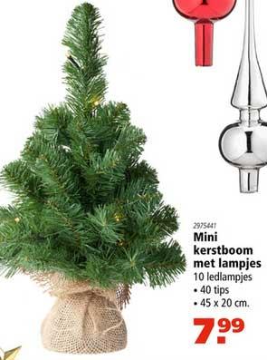 Marskramer Mini Kerstboom Met Lampjes