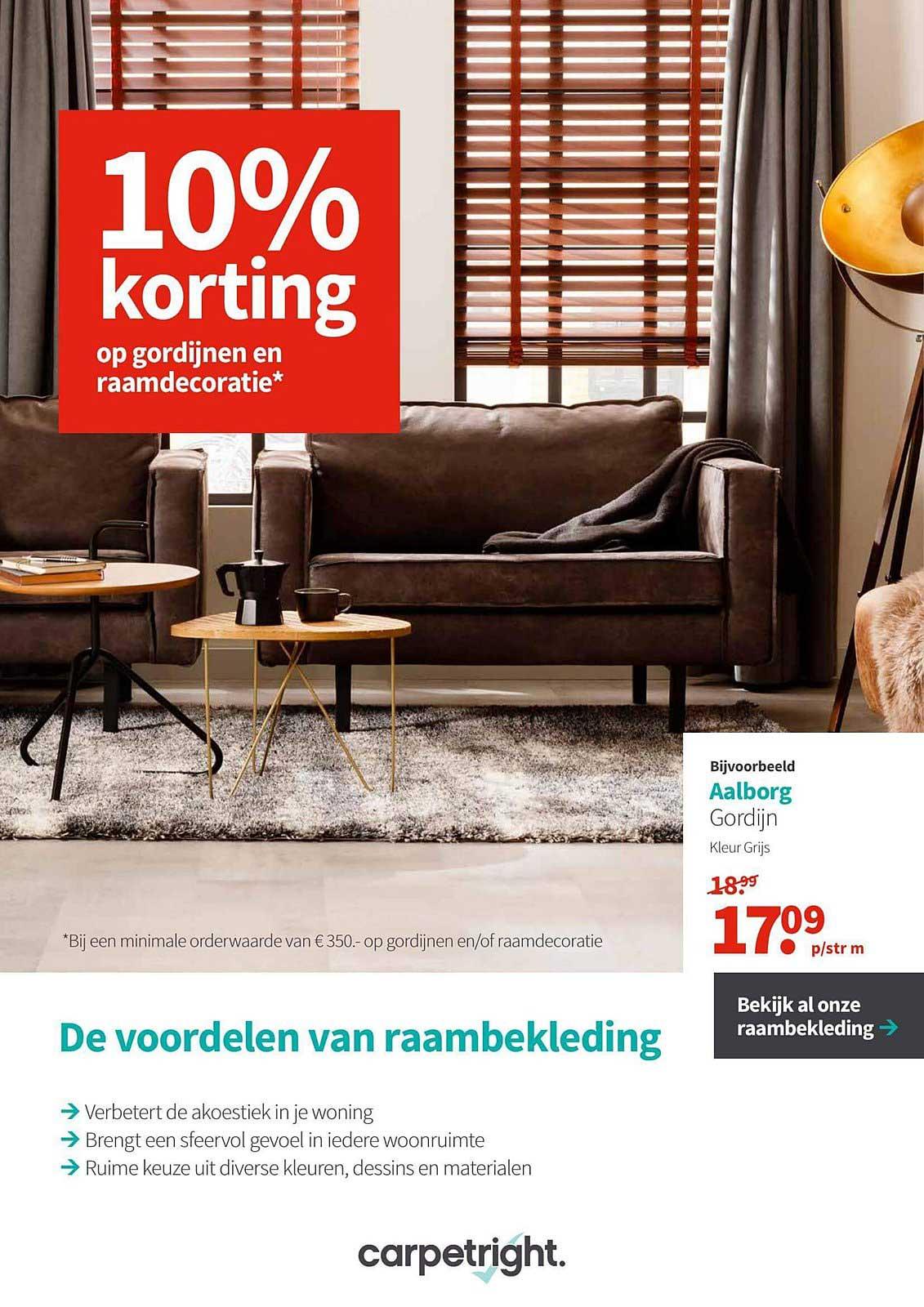 Carpetright 10% Korting Op Gordijnen En Raamdecoratie