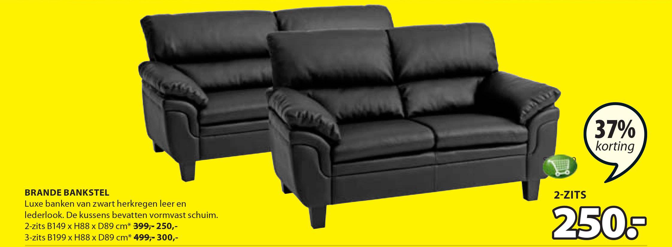 Ikea Zwart Leren Bank.Whkmp S Own Eco Leren 4 Zitsbank Lexington Aanbieding Bij Wehkamp