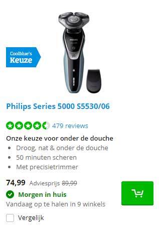 Coolblue Philips Series 5000 S5530-06
