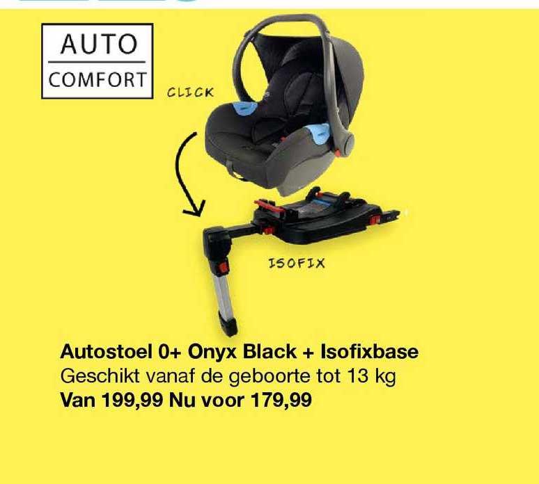 Van Asten Autostoel 0+ Onyx Black + Isofixbase