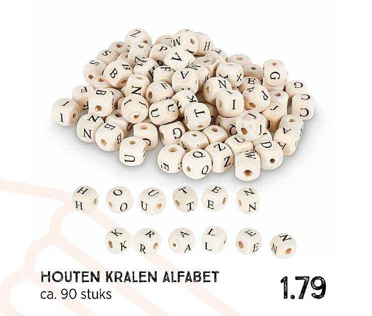 Xenos Houten Kralen Alfabet