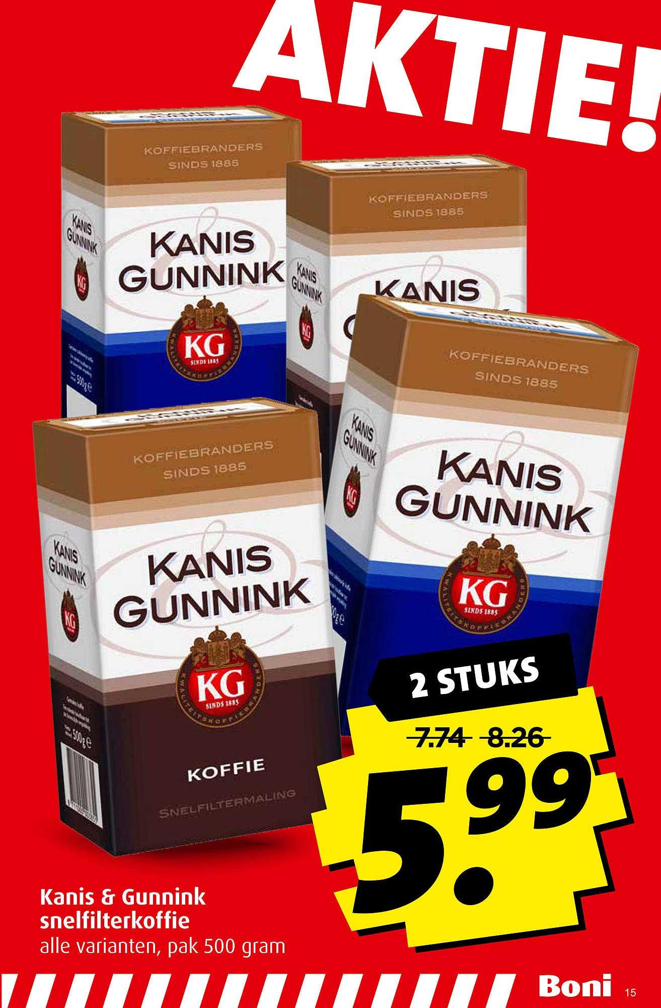 Boni Kanis & Gunnink Snelfilterkoffie