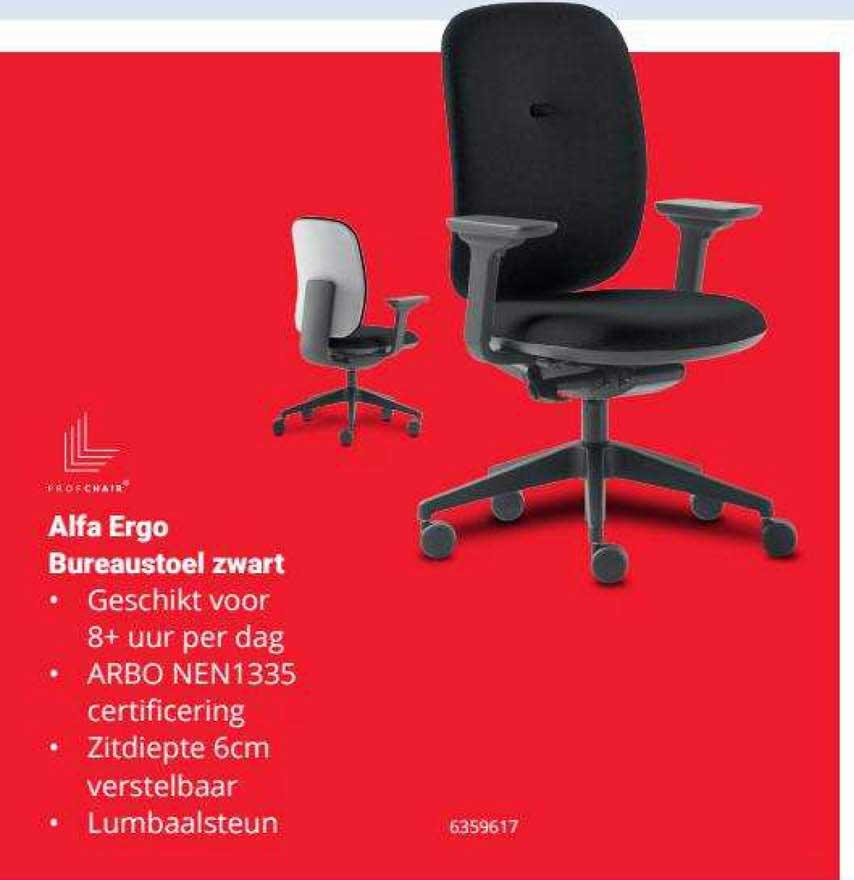 Office Centre Alfa Ergo Bureaustoel Zwart