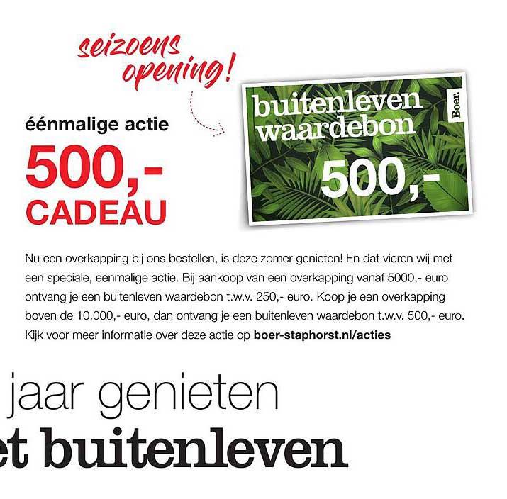 Boer Staphorst Buitenleven Waardebon