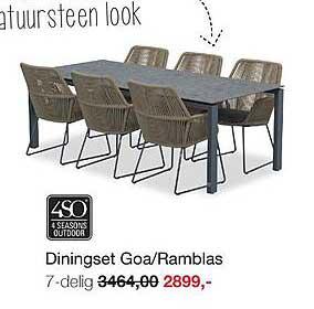 Boer Staphorst Diningset Goa-Ramblas 7-Delig