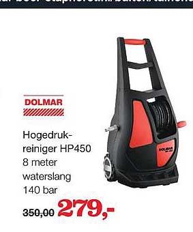 Boer Staphorst Dolmar Hogedrukreiniger HP450 8 Meter Waterslang 140 Bar
