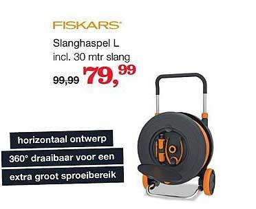Boer Staphorst Fiskars Slanghaspel L Incl. 30 Mtr Slang