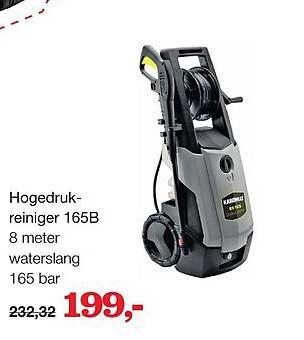 Boer Staphorst Hogedrukreiniger 165B 8 Meter Waterslang 165 Bar