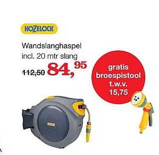 Boer Staphorst Hozelock Wandslanghaspel Incl. 20 Mtr Slang