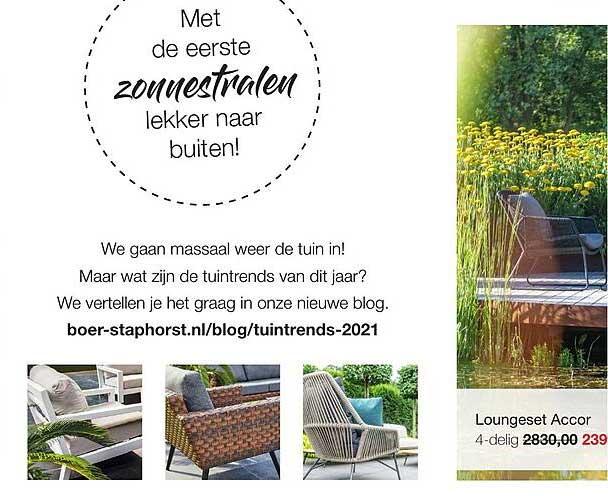Boer Staphorst Loungeset Accor 4-Delig