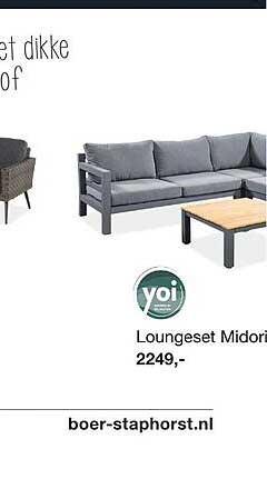 Boer Staphorst Loungeset Midori