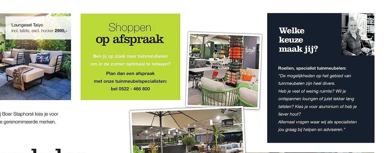 Boer Staphorst Loungeset Taiyo Incl. Tafels