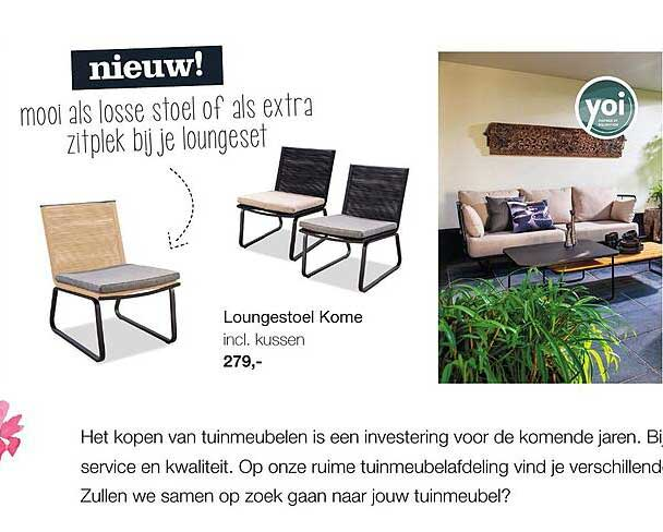 Boer Staphorst Loungestoel Kome Incl. Kussen