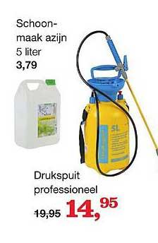 Boer Staphorst Schoonmaak Azijn 5 Liter Of Drukspuit Professioneel