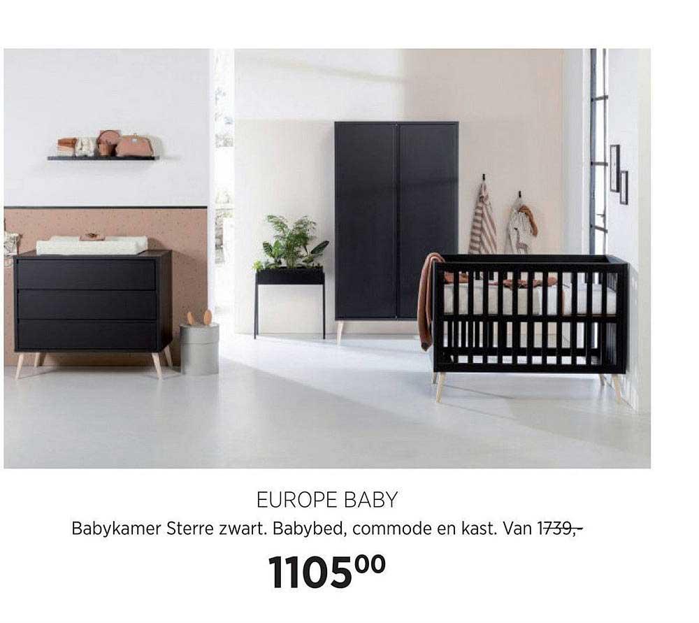 Babypark Europe Baby Babykamer Sterre Zwart