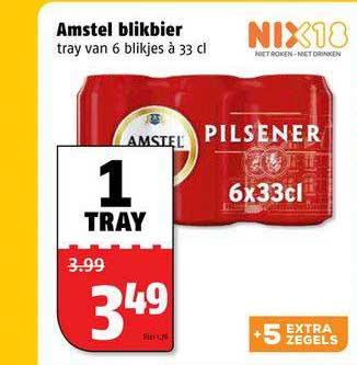 Poiesz Amstel Blikbier