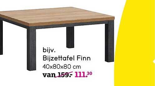 Leen Bakker Bijzettafel Finn 40x80x80 Cm