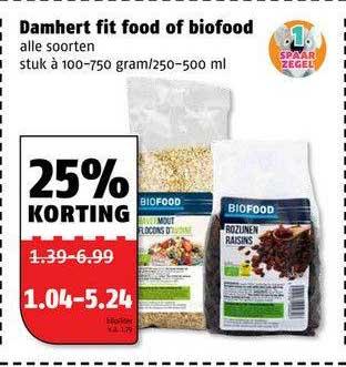 Poiesz Damhert Fit Food Of Biofood 25% Korting