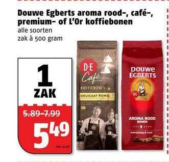 Poiesz Douwe Egberts, Aroma Rood-, Café-, Premium- Of L'Or Koffiebonen