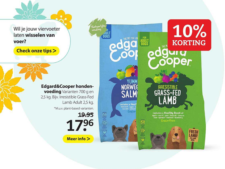 Boerenbond Edgard&Cooper Hondenvoeding 10% Korting