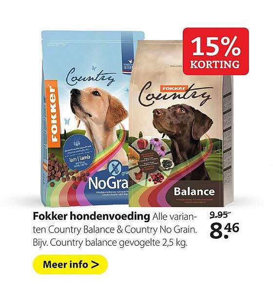 Boerenbond Fokker Hondenvoeding 15% Korting