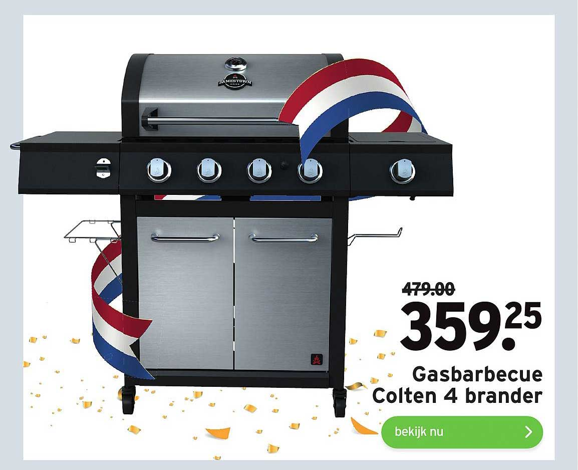 Gamma Gasbarbecue Colten 4 Brander