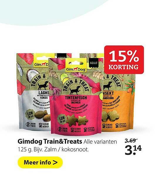 Boerenbond Gimdog Train&Treats 15% Korting